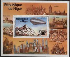 Niger - C278 500fr Zeppelin airmail souvenir sheet mint - 1976