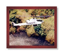 USMC Marine Cobra Helicopter Wall Picture Cherry Framed Art Print