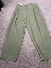 Cos Green Cord Trousers Size 14