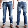 B-Ware | Nudie Herren Slim Fit Jeans |Thin Finn Organic Strikey |W32 L34