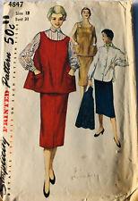 Patrón de costura Vintage, Falda Y Blusa Top De Maternidad