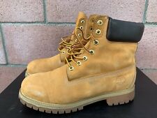 Timberland Leather Premium Work Boots Mens Size 9.5 Wheat Safety
