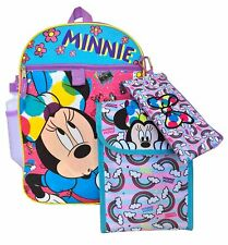 Rain-BOW-Tastic 5pc Minnie Mouse Backpack Set