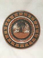 """Decorative But Somewhat Primitive-Style Plate - 12 3/8"""" in Diameter"""