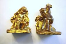 OFFERS WELCOME!  Sterling Bronze Company New York Solid Bronze Bookends.