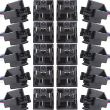 DC Black 10Pack Car Truck 12V 12 Volt 40A AMP Relay & Socket SPDT 5Pin 5 Wire