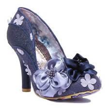 Irregular Choice Peach Melba Womens Microfibre Shoes Navy UK 6 - EU 39