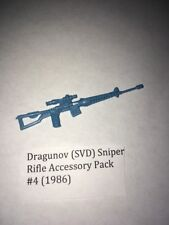 Vintage light blue Dragunov rifle from Acc. pack 4 1986 (Cobra Soldier Mold)