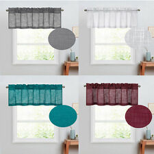 1 piece Semi Sheer Linen Look Light Reducing Window Treatment Valance