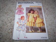 Vintage BUTTERICK Sewing Pattern 3545 GIRLS PARTY DRESSES Size 2-3-4 UNCUT