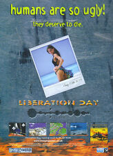 """liberation Day """"Humans Are So Ugly!"""" 1998 Magazine Advert #4323"""