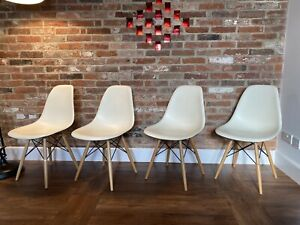 4 X Genuine Eames DSW Vitra Chairs