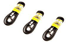 3 x Proel Livewire 3M MIC Lead-XLR a XLR-Pro cavo del microfono