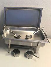 1x Chafing Dish Speisewärmer 1 Behälter GN 1/1  2x Servierlöffel 1x  Deckel