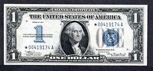 RARE STAR 1934 $1 One Dollar Silver Certificate Blue Seal, Gem Uncirculated