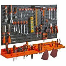 VonHaus 15/192 UK Garage Wall Tool Rack Pegboard Shelf Tool Organiser