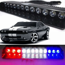 12 LED Emergency Strobe Light Bar Police Warning Flash Visor Deck Car Dash Lamp