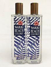 2 Bath Body Works WAIKIKI BEACH COCONUT Fine Fragrance Mist Spray
