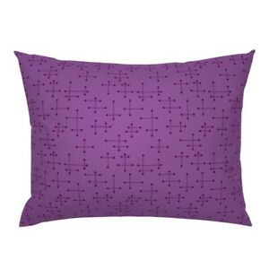 Line Lines Dot Dots Atomic Geometric Pillow Sham by Roostery