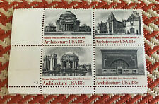 U S Postage Stamps Block of 4 Mnh Architecture Usa 20 Cent 1979