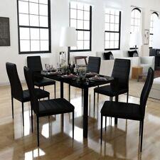 vidaXL Conjunto de Comedor 7 Piezas Negro o Blanco y Negro Sillas Muebles Cocina