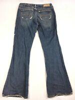 Abercrombie & Fitch Flare Leg Denim Blue Jeans - Women's Size 4