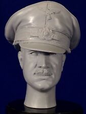 "1:6  RESIN HEAD SCULPT  ""ADOLF GALLAND ""  WITH OFFICERS CAP / WWII FIGHTER PILOT"