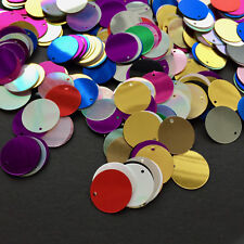 Round Disc Sequins/15 mm/100, or 500. Mixed Colours/or Silver. Sewing/Crafts.