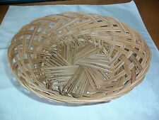 MINT CONDITION Woven Reed Wicker Oval Basket