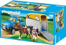 Playmobil 5223 Country SUV with Horse Trailer - Ages 5 and up (Brand New in Box)