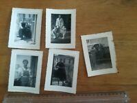 N°21 - 5 PHOTOS famille jeune femme enfant camion ANNÉES 40-50