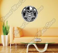 "Cowboy Skull Gun Pistol Western Texas Wall Sticker Room Interior Decor 22""X22"""