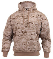 hooded sweatshirt desert digital camo pullover various sizes rothco 6525