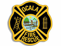 "4"" ocala fire rescue florida logo seal decal sticker"