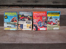 New listing Mechanix Illustrated Magazines Aug 1957~ May 1960~ Oct 1964~ July 1965 Lot of 4