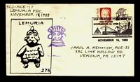 ACE hand crafted/painted cachet/Local Mail Lemuria Cover ACE# 17 - Lot 0221431