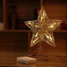 ac0edb3970d5 LED Tree Topper Star Christmas Decorations Top Xmas Star Light Up Glitter