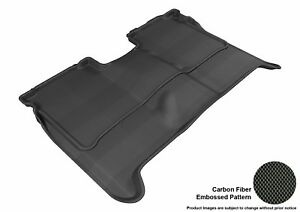 For 04-15 Nissan Titan Crew Cab R2 Carbon Pattern Black All Weather Floor Mat