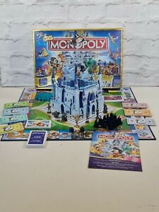 Rare Monopoly The Disney Edition Pop up Castle & Golden TinkerBell Complete
