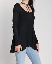 9eca91e1924b Free People Women s January Tee Long Sleeve Ribbed Scoop Neck Shirt Top  Size XS