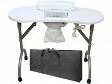 PORTABLE FOLDABLE MANICURE TABLE WITH FAN DUST COLLECTOR AND CARRY BAG NAIL ART