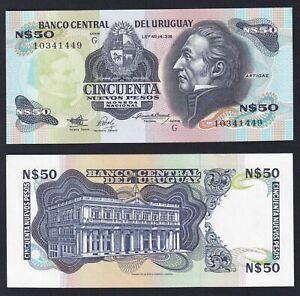 Uruguay 50 nuevos pesos 1988(89) FDS/UNC  B-10