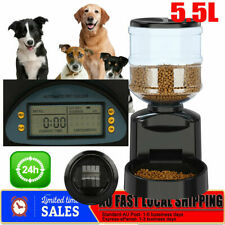 5.5l Digital LCD Automatic Pet Feeder Dog Cat Food Bowl Timer Auto Program AU