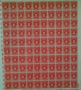 1931 #J81 Two Cent Postage Due US Stamp