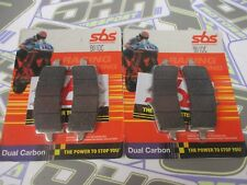 SBS Dual Carbon Racing Track Front Brake Pads for BMW S1000RR HP4 2012 2013 2014