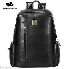 Bison Denim Men's Retro Business Laptop Backpack Large Capacity