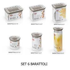 Set 6 Barattoli contenitori di spezie caffè sale zucchero pasta per cucina casa