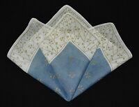 vintage handkerchief NECK SCARF mask LARGE hand rolled edge UNUSED hankie KEEPER