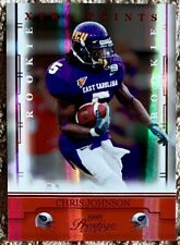 2008 PLAYOFF PRESTIGE RED /100 CHRIS JOHNSON RC BEAUTY 2000 YARD BACK