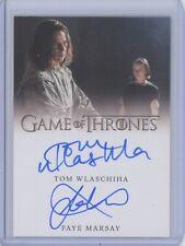 Rittenhouse Game of Thrones Season 8 Tom Wlaschiha Faye Marsay DUAL AUTOGRAPH